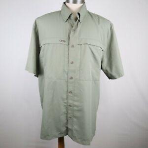 Gameguard Outdoors Men's Green Short Sleeve Button Down Fishing Shirt Size 2XL