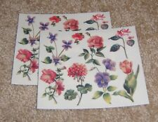 Colorbok Sticker Lot of Two ~ Sandy Clough....Heirloom Garden Flowers