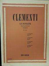 CLEMENTI - 12 Sonate per pianoforte volume 2 -  ed Ricordi