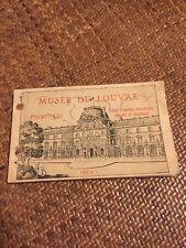 Musee Du Louvre Postcard Book Serie 5 1930s? PARIS Souvenir Vintage Paintings