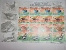 """INDIA STAMPS - FULL SHEET - 16 GUM STAMPS - """"ENDANGERED BIRDS OF INDIA"""" - 2006"""