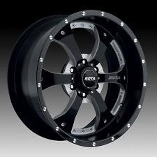Sota Novakane 6 20x9 6x5.5 0mm Death Metal Black Milled Wheels - Set of 4