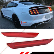 FOR 2015-17 FORD MUSTANG REAR BUMPER SIDE MARKER REFLECTOR LED STRIP LAMPS LIGHT