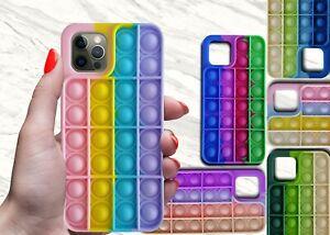 3D Fidget Push Bubble Silicone Pop Phone Case for Apple iPhone 7 8 Plus 10 X XS