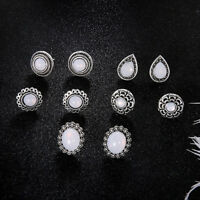 Fashion Women Water Drop Earrings Round Geometric Dangle Ear Stud Jewelry JJ