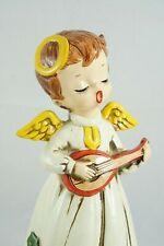 "Vintage Josef Originals Christmas Angel Music Box 8"" Tall Song Silent Night"