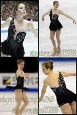 Ice Skating Dress.Black Competition Figure Skating.Dance BatonTwirling Costume