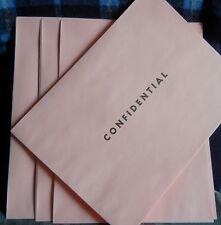 "PINK ENVELOPE 9"" X 12' printed**CONFIDENTIAL* 7 (seven) per lot"
