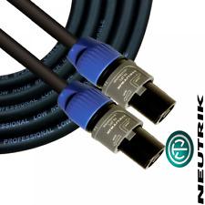 Neutrik 2 Pole Speakon NL2FC Speaker Cable PA 10m Audio Lead 2 Core Cable