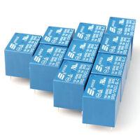 12V DC 10PCS  5Pins RELAY  Coil Power Relay PCB SRD-12VDC-SL-C NEW lmy1214NWKHCF