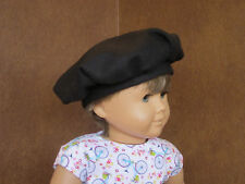 BLACK WOOL TAM HAT BERET fits American Girl - Great w/ Jeans, Dresses, Costumes!