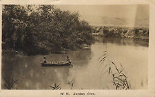 1918 postcard of the jordon river .number 11 with base army post office stamp