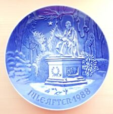 Bing & Grondahl 1988 Christmas Plate Jule Aften H.C. Andersen in Kings Garden