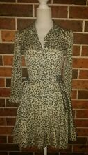 LOVER The Label Leopard Print Fit n Flare DRESS Size Aus 6