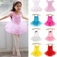Kids Girls Child Ballet Slip Ballerina Leotard Tulle Tutu Dress Baby Dance Skirt