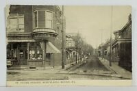 Schuylkill Haven Pa St. Peter Street 1914 to Adamsdale Pa Postcard N9