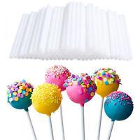 100pcs Plastic Cake Pop Sticks 7cm Hollow Lollipop Stickers For Candy Chocolate