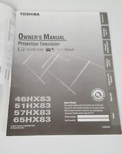 2003 TOSHIBA TV OWNERS MANUAL 46HX83 51HX83 57HX83 65HX83
