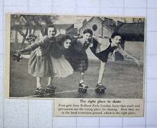 1956 Four Girls From Holland Park London Rollerskating Local Recreation Ground