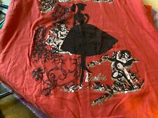 Women's New With Tags T-Shirt 2XX Coral Shirt Sleeve Barbie Cinderella