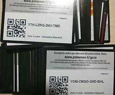 Lotto Pokemon ONLINE 100x SOLE E LUNA GUARDIANI NASCENTI SM2 CODES CODICI PTCGO