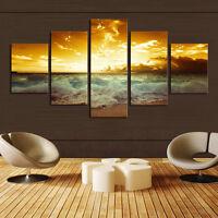 CHPT15 5pcs Modern handmade painted seas scape Oil Painting Wall decor Art
