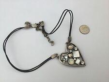 DYRBERG/KERN of DENMARK Bejeweled Heart Necklace!