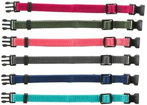 Quick Release Buckle Whelping Soft puppy Collars Adjustable Washable M/L 22-35m