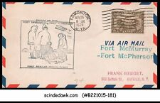 CANADA - 1929 CANADA AIR MAIL FORT McMURRAY to FORT McPHERSON - FFC