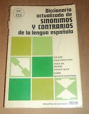 Diccionario actualizado de sinónimos y contrarios de la lengua española