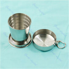 75mL Stainless Steel Portable Outdoor Travel Folding Collapsible Cup Telescopic