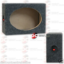 "CAR AUDIO 6""x9"" SPEAKER BOX ENCLOSURE CARPET TEXTURE & TERMINAL CUPS (ONE ONLY)"