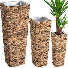 Set di 3 vasi in giacinto d'acqua per piante balcone giardino casa arredo vaso