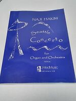 Naji Hakim Seattle Concerto Organ Orchestra Full Score Sheet Music Play #24D342