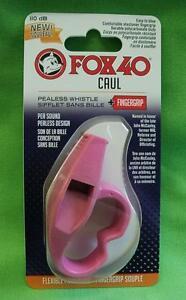 Pfeife für Sicherheit Sport Schiedsrichter FOX40 Pink mit Fingerring