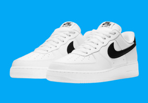 Nike Air Force 1 '07 Shoes White Black CT2302-100 Men's Multi Size NEW