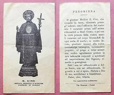 Santino Holy Card: S. San Ciro - Medico, Eremita e Martire - Portici