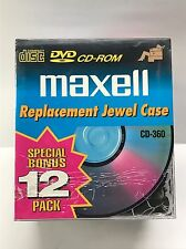 Maxell CD DVD or CD-R Jewel Cases Cd Storage Holder Case(12-Pack)