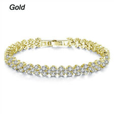 Fashion Women Charm Bracelet Crystal Bead Wedding Bracelets & Bangles Jewelry Gold