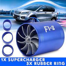 Dual Fan Air Intake Turbonator Turbine Gas Fuel Saver Turbo Supercharger Power A