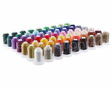 63 Color Embroidery Sewing Machine Thread Set - Jumbo 1100 Yd - 40wt Polyester