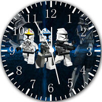 """Lego Starwars wall Clock 10"""" will be nice Gift and Room wall Decor Y53"""