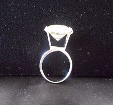 X-Large TENSION RING Great for Trying On Solitaire Loose Moissanite & Gemstones