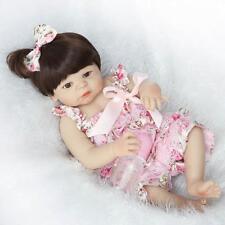 "23""Lifelike Full Body Silicone Reborn Baby Doll Vinyl Newborn Baby Girl Dolls"