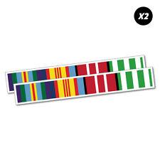 2X Vietnam Ribbons Veterans Sticker Aussie Car Flag 4x4 Funny Ute #6716EN