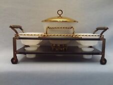 VINTAGE FIRE-KING CANDLE WARMER CART~5 PIECE WARMER SERVING BOWL W/LID AND BOWLS