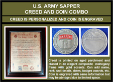 Mc-Better: Personalized Sapper Creed And Engraved Sapper Coin