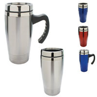 Cup Mug Bottle Tumbler Double Wall Stainless Steel Interior Water Drinks 16oz