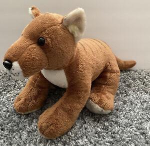 "BUILD A BEAR Tasmanian Tiger Wolf Devil Dog Thylacine Plush Brown 19"" 2011 BAB"