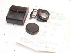 Albinar ADG Auxiliary Telephoto  Lens for Minolta Talker w/ Instructions & case